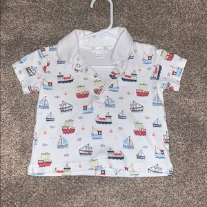 Kissy kissy boat polo shirt 6-9 months